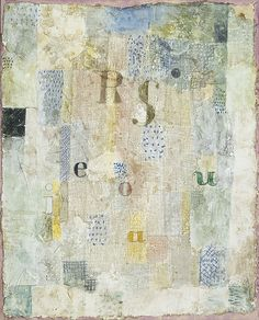 "Paul Klee. (German, born Switzerland. 1879-1940). Vocal Fabric of the Singer Rosa Silber. 1922. Watercolor and plaster on muslin, mounted on cardboard, 24 1/2 x 20 1/2"" (62.3 x 52.1 cm). Gift of Mr. and Mrs. Stanley Resor. © 2008 Artists Rights Society (ARS), New York / VG Bild-Kunst, Bonn"