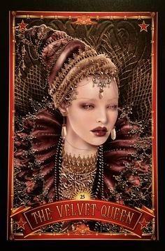 The Velvet Queen, from the Divine Circus Oracle Card deck, by Alana Fairchild