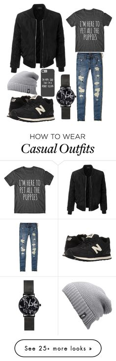 """Cool & Casual ✌"" by cormeno on Polyvore featuring LE3NO, Hollister Co., New Balance Classics, Disney and The North Face"
