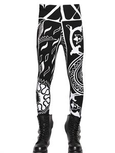 KTZ - TATTOO PRINTED STRETCH JERSEY LEGGINGS - Yes to this. All of this. The print deserves all the awards.