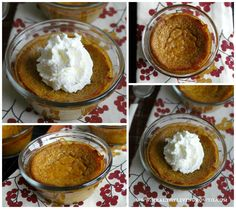 For all the last minute folks out there - go get some pumpkin puree and whip up a batch of these - QUICK and EASY! Easy Crust Less Pumpkin Pie
