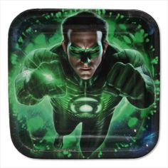 Green Lantern Small Paper Plates