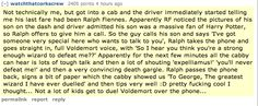 Not many kids get to duel Voldemort over the phone and let's take moment to appreciate Ralph's awesomeness