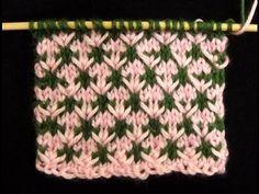Cómo Tejer Florecitas en Colores-How to Knit Flowers in Colors-2 Agujas (345) - YouTube