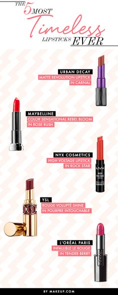 These lipsticks have a special place in our hearts ... FOREVER. Do you have these 5 timeless products?