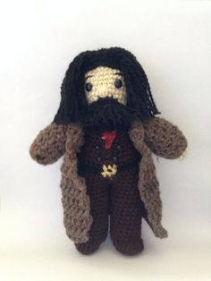 This Hagrid amigurumi stands at about 8 tall. Please allow at least a few days between the date of purchase and of shipment as these are made to order.