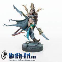 Painted by: Yaroslav Bozhdynsky Dragon Miniatures, Warhammer 40k, Elves, Rage, Action Figures, Sculptures, Creatures, Hero, Fantasy