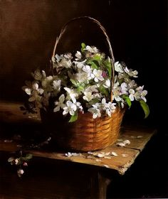 fasci-arte: Sergei Tutunou Was Born. Art Floral, Flower Vases, Flower Art, White Flowers, Beautiful Flowers, Still Life Flowers, Still Life Art, Painting Inspiration, Painting & Drawing