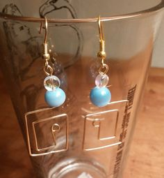 Hypoallergenic wire and glass bead earrings by IronEagleLeatheretc on Etsy