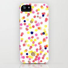 Watercolor Confetti! iPhone Case by Sara Berrenson - $35.00