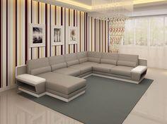 Divani Casa 5098 Modern Bonded Leather Sectional Sofa