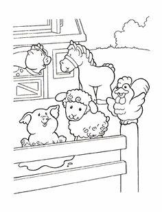 Printable Farm Animal Coloring Sheets 028 | Learning | Pinterest ...