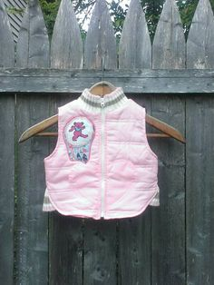 Get Down Upcycled Grateful Dead Dancing Bear Boho Baby Puffy Winter Boho Dreamcatcher Vest, Ready to Ship, size 12 Mo, FREE gift wrap option by jamnjellybeans on Etsy