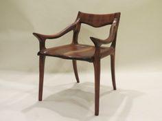 Zachary Brosious - Custom Made Hardwood Low Back Chair