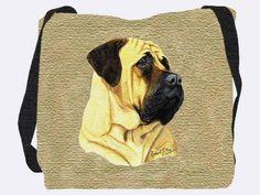 Bullmastiff Shoulder Bag - A Bentley Cushions Ukulele, Shopping Bag, Reusable Tote Bags, Shoulder Bag, Bullmastiff, Pure Products, Cotton, Accessories, Cushions