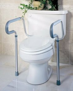"""G30300H Medline 1 EA/EA RAIL,TOILET,SAFETY,GUARDIAN,EACH Medline G30300H by Posey. $40.00. Medline G30300H RAIL,TOILET,SAFETY,GUARDIAN,EACH Physical Medicine/Rehabilitation Toilet Aids, Aids to Daily Living RAIL,TOILET,SAFETY,GUARDIAN,EACH Toilet Seat Frame. Handles Are Adjustable And Rotate Back For A Wide Range Of Comfortable, Secure Positions. Closed Cell Foam Armrests For A Comfortable, Sure Grip. """" Adjustable Height 26"""" - 31"""" (66-74 Cm) Fits Standard Or Eleva..."""