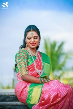 You can find the best wedding photographers, top wedding makeup artists, finest wedding decorators, top wedding planners, bridal stylists & affordable jewellery rentals Bridal Portrait Poses, Bride Portrait, Indian Bridal Sarees, Wedding Consultant, Wedding Makeup Artist, Bridal Blouse Designs, South Indian Bride, Best Wedding Photographers, Saree Wedding