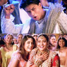 Kabhi khushi kabhi gham - SRK, Kajol & Kareena Shahrukh Khan And Kajol, Shah Rukh Khan Movies, Bollywood Couples, Bollywood Stars, Srk Movies, Good Movies, Indian Celebrities, Bollywood Celebrities, Film France
