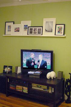Wall above TV  Good idea
