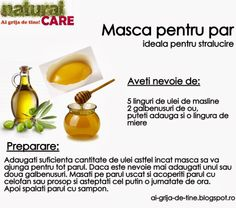 Masca pentru par - ideala pentru stralucire Weight Loss Drinks, Natural Medicine, Body Care, Herbalism, Healthy Lifestyle, Beauty Hacks, Hair Care, Health Fitness, Hair Beauty