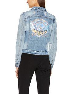 Dunkle jeansjacke damen