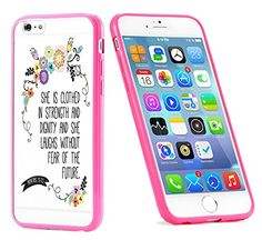 Popular Apple iPhone 6 or 6s Christian Bible Verse Proverbs 31:25 Gift for Teens TPU Bumper Case Cover Mobile Phone Accessories Hot Pink MonoThings http://www.amazon.com/dp/B017HT6T0G/ref=cm_sw_r_pi_dp_BS9nwb04KNF5Y