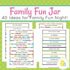 How to Make a Family Fun Jar (with Printable Activity List)