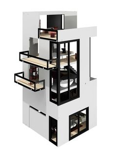 Bennett House with Maison Furniture Collection and Free Accessories Set by Brinca Dada at Gilt Barbie Furniture, Dollhouse Furniture, Home Furniture, Modern Dollhouse, Victorian Dollhouse, Modern Art Deco, Miniature Houses, Miniature Dolls, Dream House Exterior
