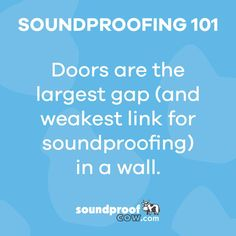 Is your door really keeping out everything it's supposed to? The Cow is here to support you as you soundproof your door and stand up against sound! #soundproofing #soundproofcow #chambersburgpa
