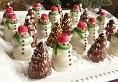 Recept na Ořechoví sněhuláci a stromečky