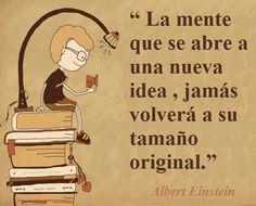 La mente que se abre a la idea de estar OK, jamás volverá a sentirse incómoda. Albert #Einstein #variantesOK