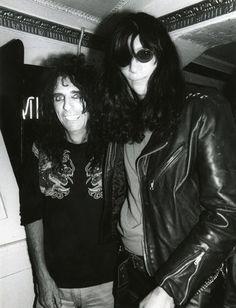 Alice Cooper and Joey Ramone