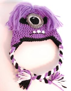 Purple Minion Hats  Crochet Purple Minion Hats with by @Alane Clark  $20.00