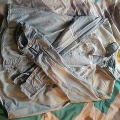 Denim long sleeve button up top Denim button up longv sleeve top; NWOT Tops Button Down Shirts