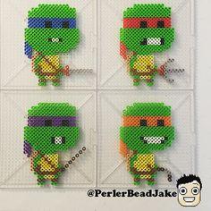 TMNT perler beads by  perlerbeadjake