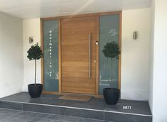 contemporary front door, contemporary doors oak, modern front doors, modern entrance doors, contemporary front doors by hajohesse Unique Front Doors, Modern Entrance Door, Contemporary Front Doors, Modern Front Door, Double Front Doors, Wood Front Doors, Front Door Entrance, Painted Front Doors, House Front Door