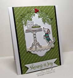 Cattail Designs: Sharing the Joy, A Christmas card. FMS311