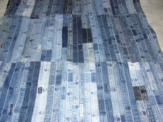 jean quilt made from old waist bands -brilliant!!!