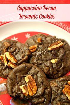 Holiday Cookie Exchange Recipe: Cappuccino Pecan Brownie Cookies