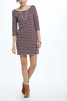 Dress with ankle boots- Anthropologie
