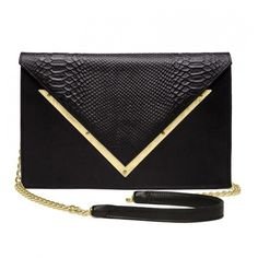 Dareen Hakim Black Python Cluch Le Versailles ($425) ❤ liked on Polyvore featuring bags, handbags, black, real leather handbags, genuine leather handbags, snakeskin handbag, black leather purse and leather purse