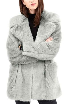 Topshop 'Claire' Faux Fur Coat available at #Nordstrom