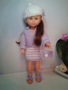 Le petit monde d'Emilie et ses amis: Tenue tricot lilas compatible poupée Chéries, Paol...