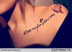 Love me for who i am :*