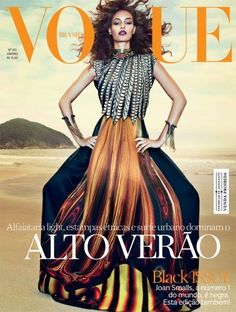 Joan Smalls on the cover of Vogue Brasil January 2013