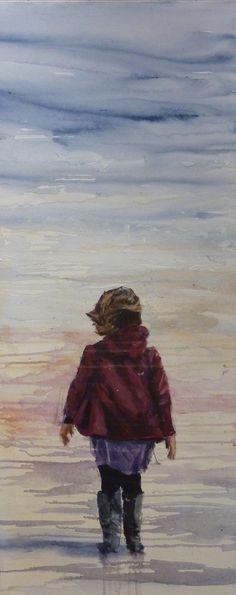Breathe   2012 Acrylic on canvas 600 x 1200 #RosKochArt