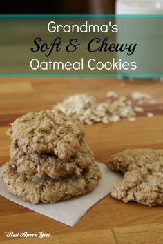 Grandma's Soft and Chewy Oatmeal Cookies. I could eat the whole batch
