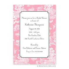 Chinoiserie Pink by Boatman Geller