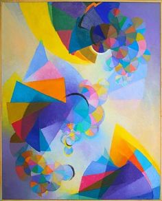 """Subjective Time"" by Stanton MacDonald-Wright, 1958"