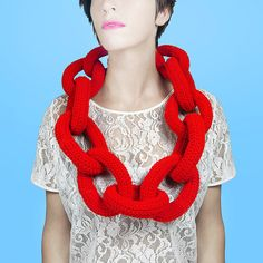 This is one of the stupidest things I've seen in a long time... Really? Really? Hideous. And the definition of absurd. Bright Red Giant Bling Bling Chain by bepixielated on Etsy, $64.00